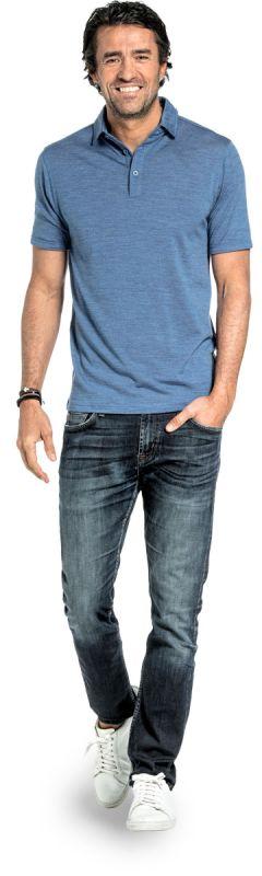 Shirt Polo Short Sleeve Yacht Blue