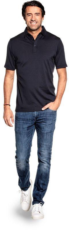 Joe Shirt Polo Short Sleeve Blue Grey