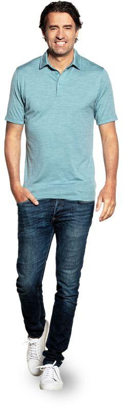 Joe Shirt Polo Short Sleeve Mythos Blue