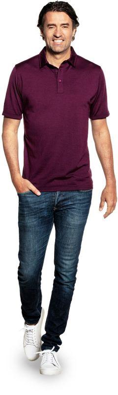 Joe Shirt Polo Short Sleeve Red Cabbage