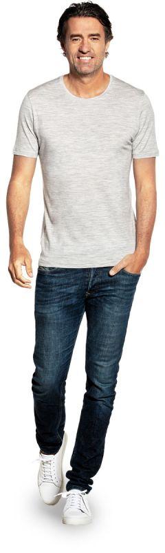 Joe Shirt Round Neck Dover Grey