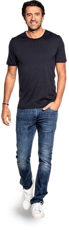 Joe Shirt Round Neck Blue Grey