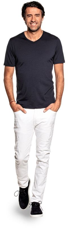 Joe Shirt V-neck Blue Grey