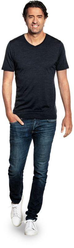 Joe Shirt V-neck Blue Whale