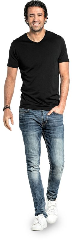 Joe Shirt V-neck Deep Black