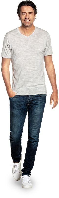 Joe Shirt V-neck Dover Grey