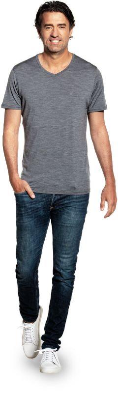 Joe Shirt V-neck Harvard Grey