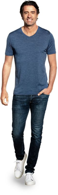 Joe Shirt V-neck Jeans Blue