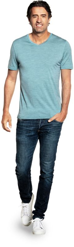 Joe Shirt V-neck Mythos Blue
