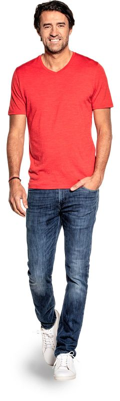 Joe Shirt V-Neck Negroni