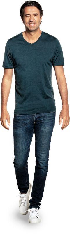 Joe Shirt V-neck Proud Peacock