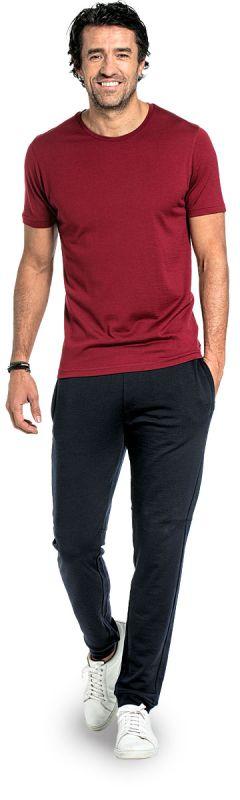 Joe Shirt Round Neck Burgundy Red