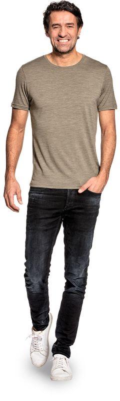 Joe Shirt Round Neck Clean Kaki