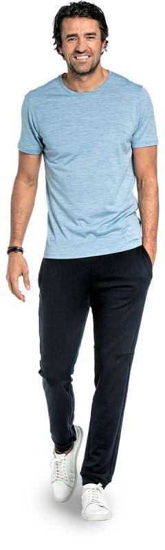 Joe Shirt Round Neck Glacier Blue