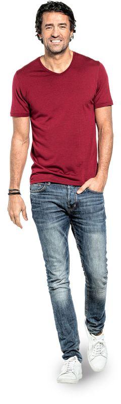 Joe Shirt V-neck Burgundy Red
