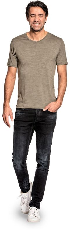 Joe Shirt V-neck Clean Kaki