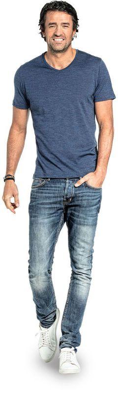 Joe Shirt V-neck Coastal Blue