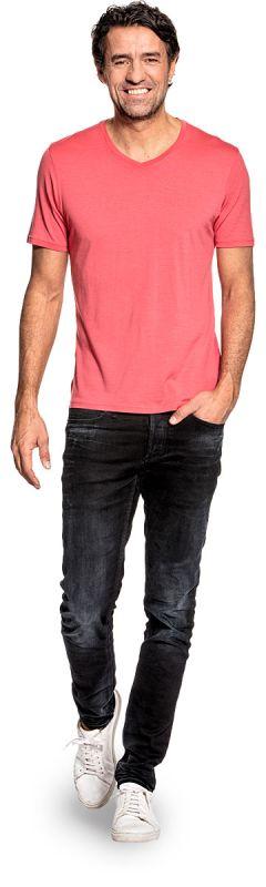 Joe Shirt V-neck Surfers Pink