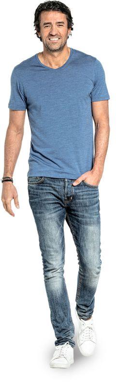 Joe Shirt V-neck Yacht Blue