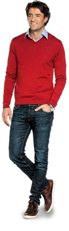 Joe V-neck Pepper Red