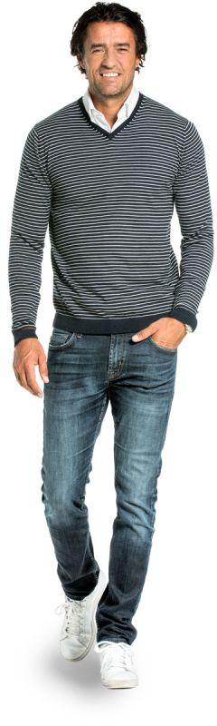Joe V-neck Big Stripes