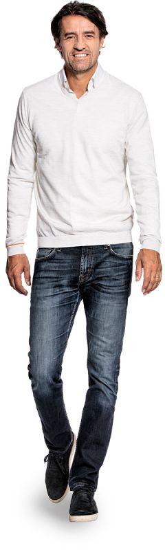 Joe V-neck Wool White