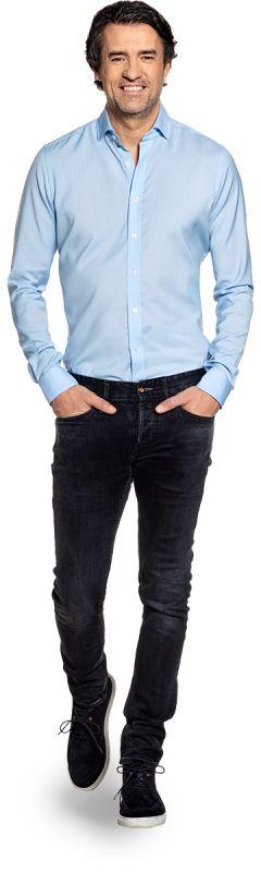 Joe Woven Shirt Light Blue