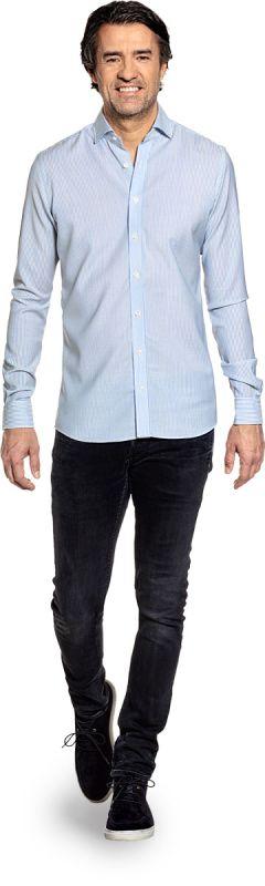 Joe Woven Shirt Stripe Light Blue