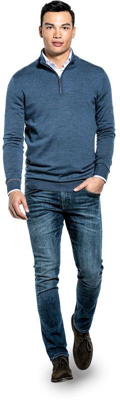 Joe Zip Extra Long Jeans Blue