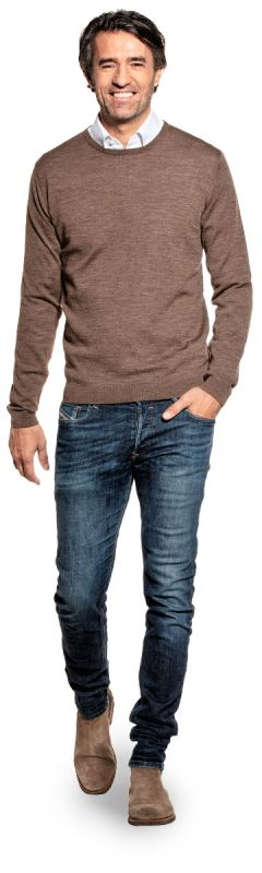 Classic Crew Undyed Brown
