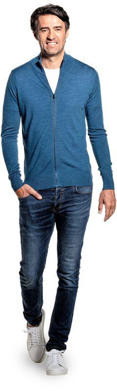 Joe Riva Cardigan Zip Federal Blue