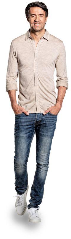 Joe Shirt Button Up Desert Beige