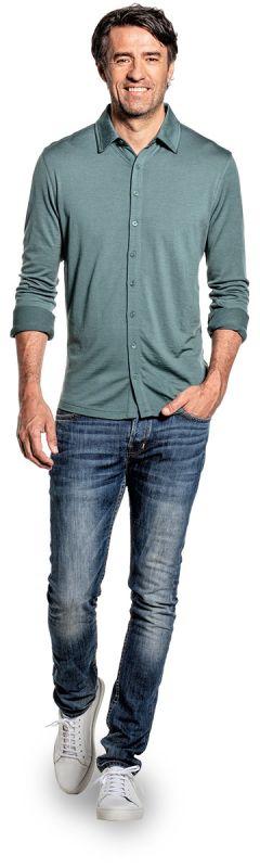 Joe Shirt Button Up Green Sage