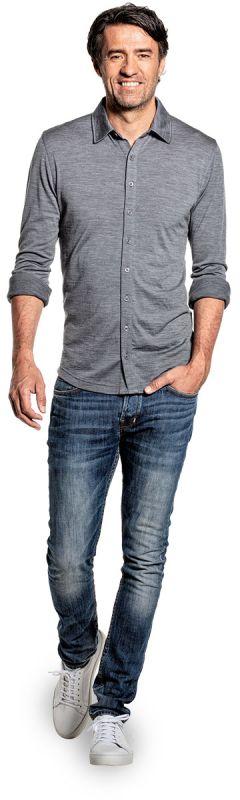Joe Shirt Button Up Harvard Grey