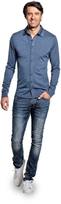 Joe Shirt Button Up Jeans Blue
