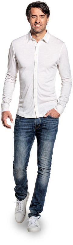 Joe Shirt Button Up Sand White