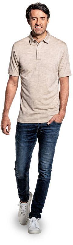 Joe Shirt Polo Short Sleeve Desert Beige