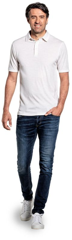 Joe Shirt Polo Short Sleeve Sand White