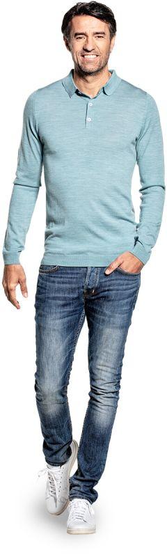 Riva Buttons Long Sleeve Mythos Blue