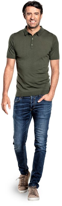 Joe Riva Buttons Short Sleeve Classy Moss