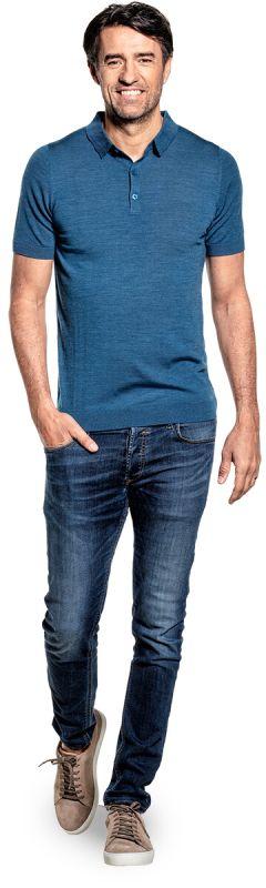 Joe Riva Buttons Short Sleeve Federal Blue