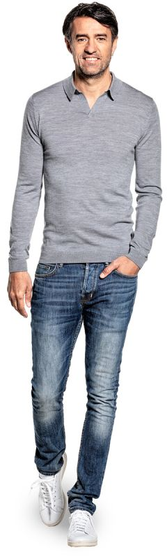 Joe Riva Long Sleeve Silver Grey
