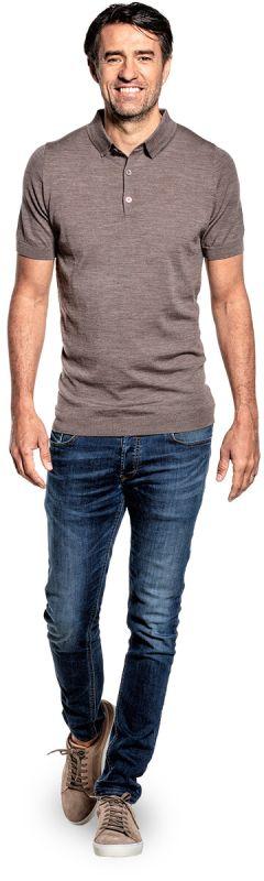 Joe Riva Buttons Short Sleeve Muddy Clay