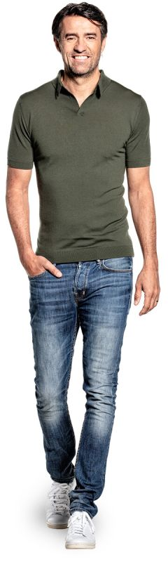 Joe Riva Short Sleeve Classy Moss