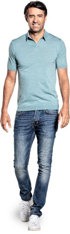 Joe Riva Short Sleeve Mythos Blue