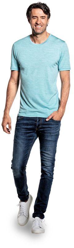 Joe Shirt Round Neck Blue Capri