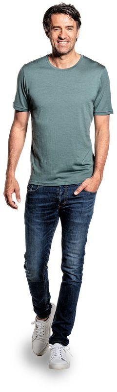 Joe Shirt Round Neck Green Sage
