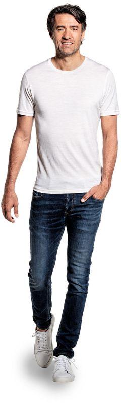 Joe Shirt Round Neck Sand White
