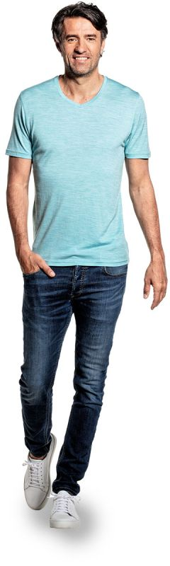 Joe Shirt V-neck Blue Capri