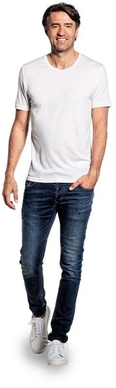 Joe Shirt V-neck Sand White